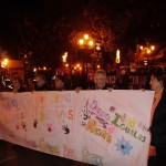 Las alumnas del TFIL participaron en la jornada contra la violencia hacia las mujeres