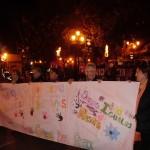 Las alumnas del TFIL participaron en la jornada contra la violencia hacia las mujeres